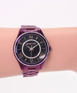 Reloj Michael Kors Lauryn Acero Púrpura ( MK3724 )